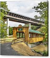 Smolen-gulf Bridge And Riverview Walk Bridge Canvas Print