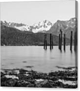 Smooth Seward Alaska Grayscale Canvas Print