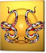 Snakes Homage To Mata Ortiz Canvas Print
