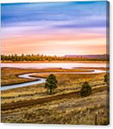 Snaking  River Canvas Print