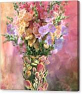Snapdragons In Snapdragon Vase Canvas Print