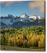 Sneffls Range Panorama From County Road 5  Canvas Print
