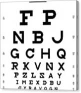 Snellen Chart - Full Alphabet Canvas Print