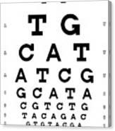 Snellen Chart - Genetic Sequence Canvas Print
