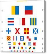 Snellen Chart - Nautical Flags Canvas Print