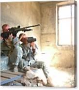 Sniper Crew Canvas Print
