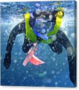 Snorkeling At The Great Barrier Reef Canvas Print
