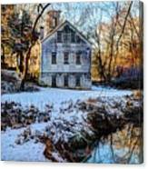 Snow Along Creek Canvas Print
