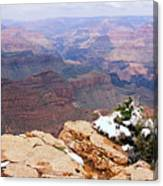Snow And Canyon - Grand Canyon Canvas Print