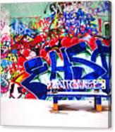Snow And Graffiti Canvas Print