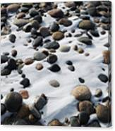 Snow And Stone Canvas Print