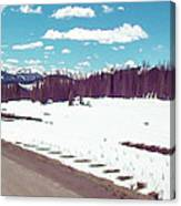 Snow And The Open Road Canvas Print
