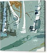 Snow Bank Canvas Print
