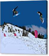 Snow Boarder Canvas Print