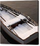 Snow Boat Canvas Print
