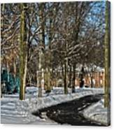 Snow Cleared Road Canvas Print