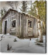 Snow Covered Abandon Cabin Canvas Print