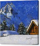 Snow Covered Canvas Print