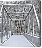 Snow Covered Pony Bridge Canvas Print