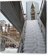 Snow Covered Stairs Canvas Print