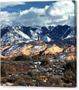 Snow Covered Utah Mountain Range Canvas Print