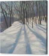 Snow Day At Winnekini Canvas Print