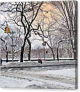 Snow Day On 5th Avenue Canvas Print