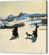 Snow Fields Canvas Print