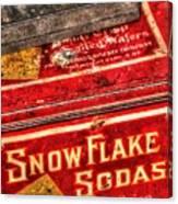 Snow Flake Sodas 767 Canvas Print