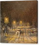 Snow For Christmas Canvas Print