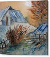 Snow House Canvas Print