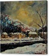 Snow In Bohan Canvas Print