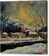 Snow In Bohan Canvas Print