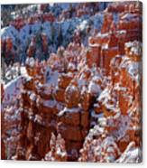 Snow In Bryce Canyon Canvas Print