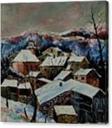 Snow In Laforet 78 Canvas Print