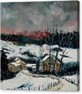 Snow In Sechery Redu Canvas Print