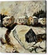 Snow In Sensenruth Canvas Print