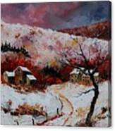 Snow In The Ardennes 78 Canvas Print
