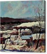 Snow In Vittrival Canvas Print