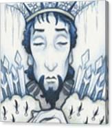 Snow King Slumbers Canvas Print
