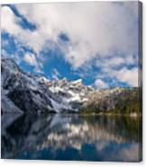 Snow Lake Vista Canvas Print
