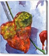 Snow Leaf Canvas Print