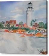 Snow Light At Cape Cod Canvas Print