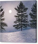Snow Light Canvas Print