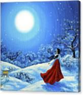 Snow Like Stars Canvas Print