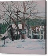 Snow Next Door Canvas Print