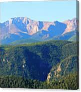 Snow On Pikes Peak Canvas Print