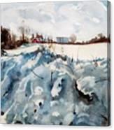 Snow On Southwick Canvas Print