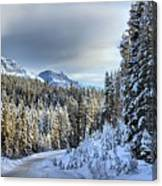 Snow On The Bow Valley Parkway Canvas Print