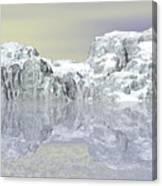 Snow On The Coast Canvas Print